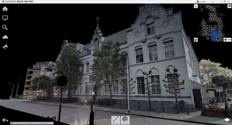 panoramafoto van pointcloud uit 3d scanner
