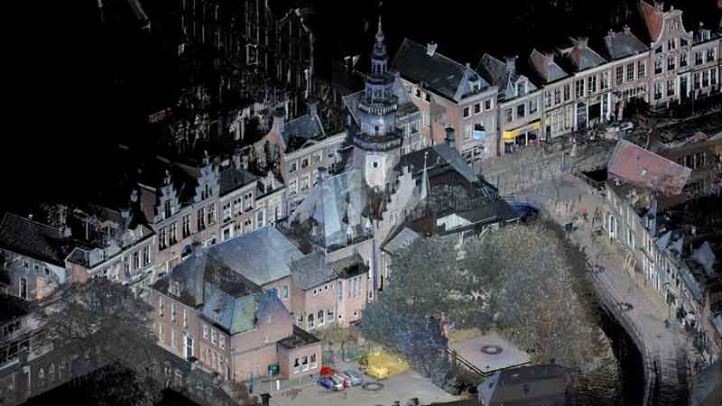 3D laserscan point cloud stadhuis Bolsward