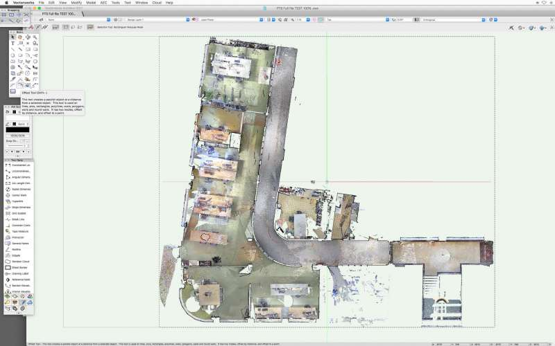 apple voorbeeld pointcloud in vectorworks