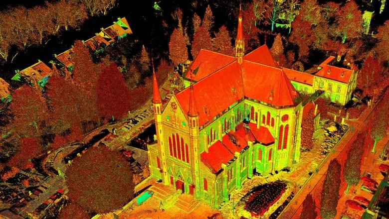 laserscan van gebouw