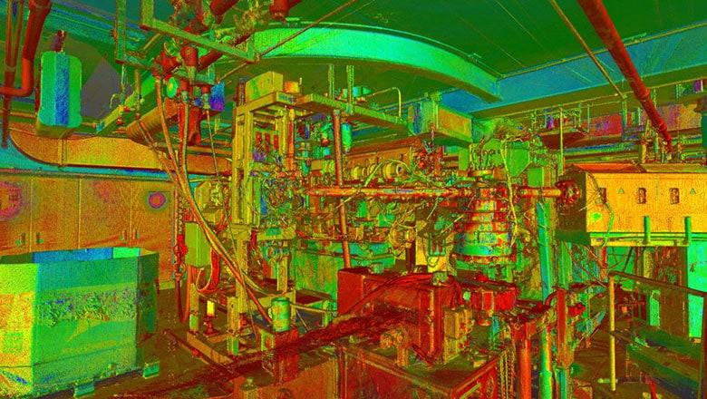 laserscan van industriële installatie