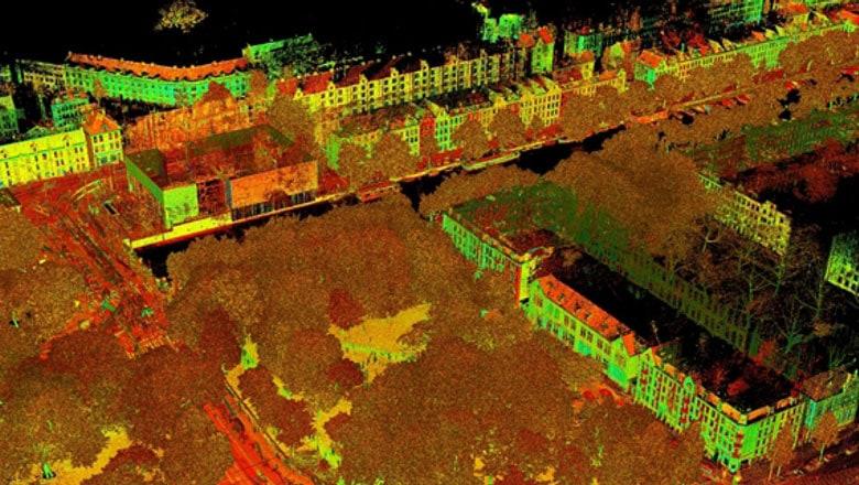 laserscan van stad