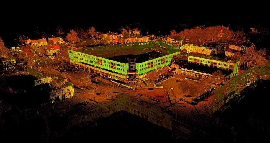 Gebouwen en terreinen scannen door HDS7000 3D laserscanner