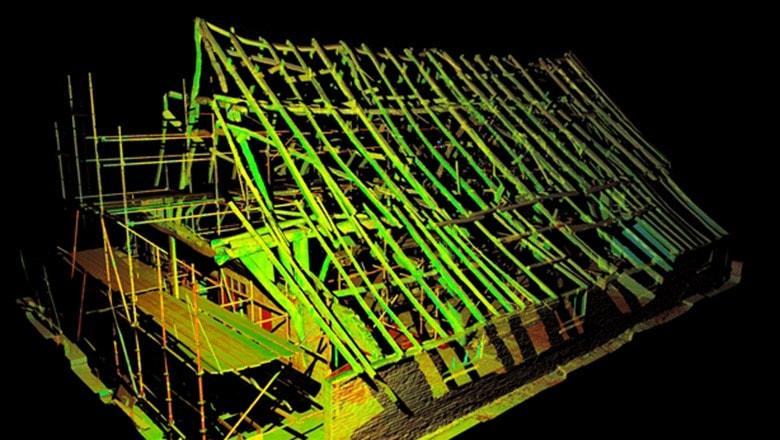 laserscan van archeologische ontdekking 3d